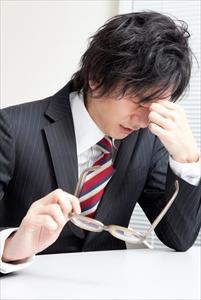 男性の目の疲労